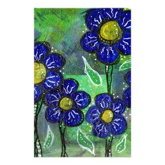 Blaue Ballon-Blumen Briefpapier