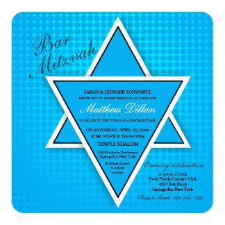 Blaue Bar Mitzvah Einladung