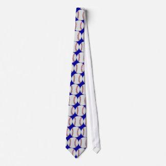 Blaue Baseball-Krawatte Individuelle Krawatte