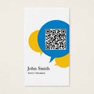 Blaue Blasen-Sicherheits-Ingenieur-Visitenkarte Visitenkarte