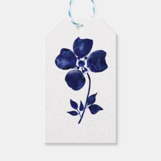 Blaue Blume Geschenkanhänger