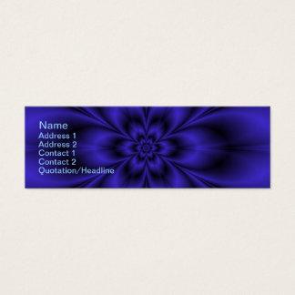 Blaue Blume Mini Visitenkarte