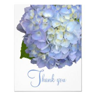 Blaue Blumen danken Ihnen leere flache Karten 10,8 X 14 Cm Einladungskarte