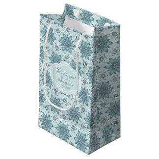 Blaue Blumen - Geschenk-Tasche Kleine Geschenktüte
