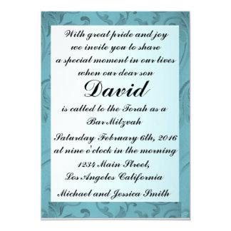 Blaue Blumen gestalten Bar 12,7 X 17,8 Cm Einladungskarte