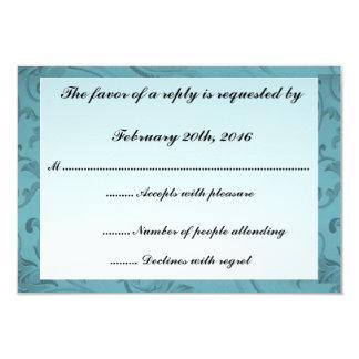 Blaue Blumen gestalten Bar Mitzvah/Geburtstag UAWG 8,9 X 12,7 Cm Einladungskarte
