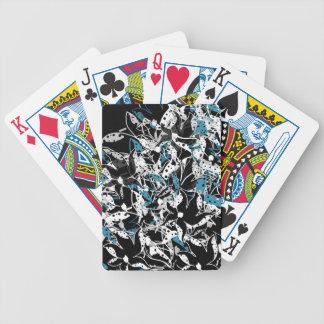 Blaue Blumenabstraktion Spielkarten