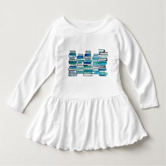 Blaue Buch-Kleinkind-Kleid Kleid