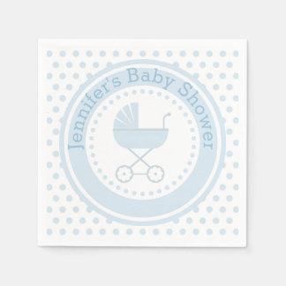 Blaue Buggy-Baby-Dusche Papierservietten
