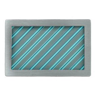 Blaue Button-Streifen-Rechteck-Schnalle Rechteckige Gürtelschnalle