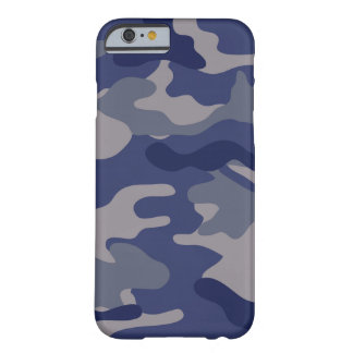 Blaue Camouflage Barely There iPhone 6 Hülle