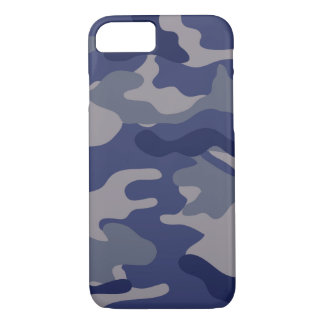 Blaue Camouflage iPhone 8/7 Hülle