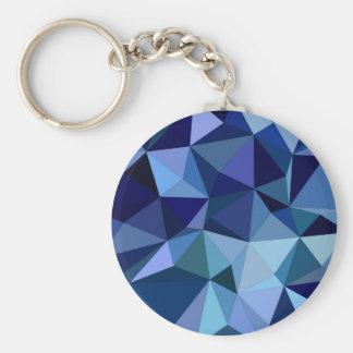 Blaue Dreiecke Schlüsselanhänger