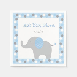 Blaue Elefant-Babyparty Serviette