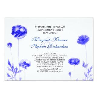 blaue elegante Verlobungs-Party Einladungen