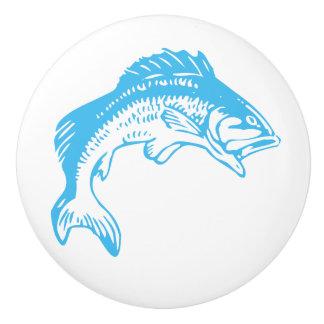 Blaue Fisch-Keramik-Griffe Keramikknauf