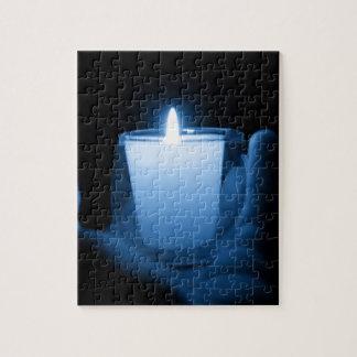 Blaue Flamme Puzzle