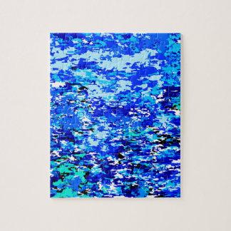 Blaue Flammen-Hintergrund Puzzle