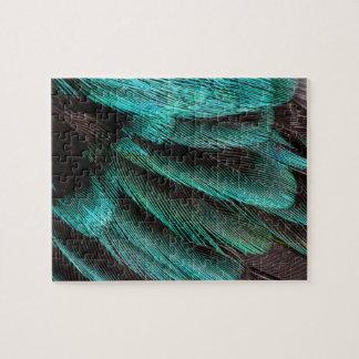 Blaue Flügel-Versteckfedern Puzzle