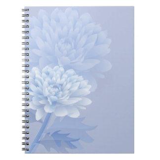 Blaue Gartennelken Spiral Notizblock