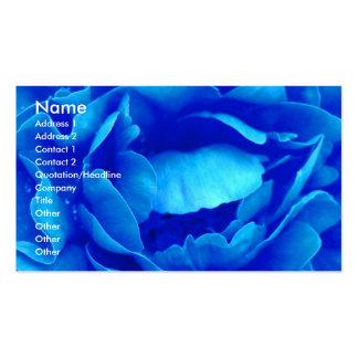 Blaue Geschäfts-Karte des Rosen-Floristen-I Visitenkarten