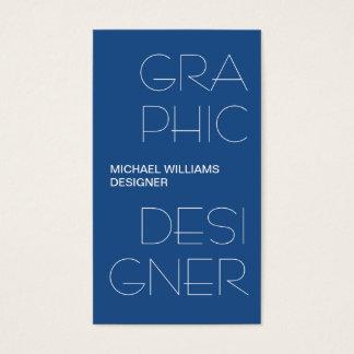 BLAUE grafische Gestaltung ELEGANTER EINFACHER Visitenkarten
