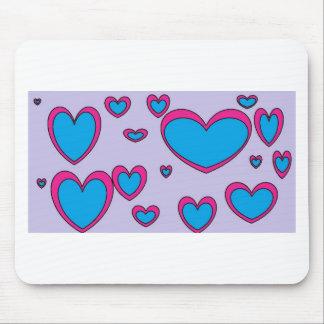blaue Herzen Mousepads