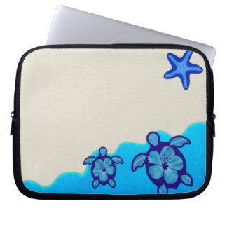 Blaue Honu Schildkröten Laptop Computer Schutzhüllen