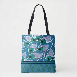 Blaue Hostas-Kunst Nouveau Taschen-Tasche