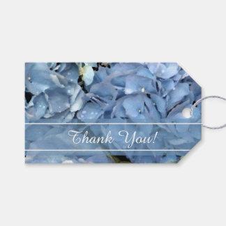 Blaue Hydrangea-Blumen-Gastgeschenk Geschenkanhänger