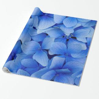 Blaue Hydrangea-Blumen Geschenkpapier