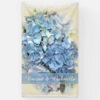 Blaue Hydrangea-Blumen-Hochzeit Banner