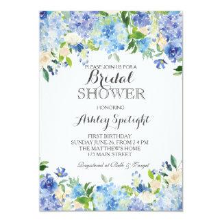 Blaue Hydrangea Duschen-Einladung 12,7 X 17,8 Cm Einladungskarte