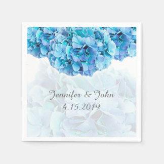 Blaue Hydrangea-Hochzeits-Sammlungs-Servietten Serviette