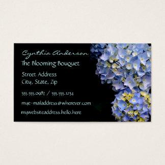Blaue Hydrangea-Visitenkarten Visitenkarte