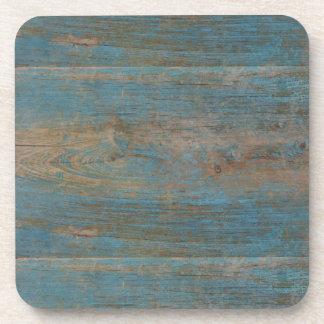 Blaue Imitat-Strand-Holz-Beschaffenheit Getränkeuntersetzer