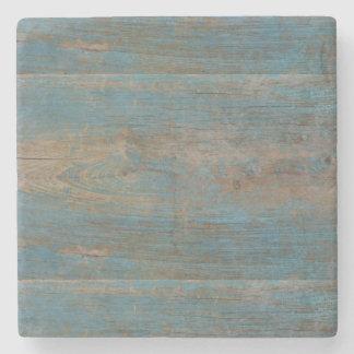 Blaue Imitat-Strand-Holz-Beschaffenheit Steinuntersetzer