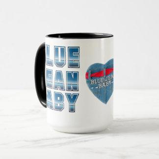 Blaue Jean-Baby-Tasse Tasse