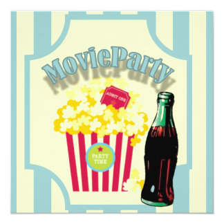 Blaue Jungen-Film-Geburtstags-Party Einladung