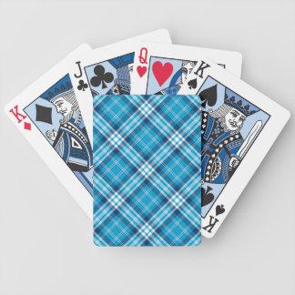 Blaue karierte Spiel-Karten Bicycle Spielkarten