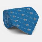 Blaue kleine Nautischstarfish-diagonale Krawatte