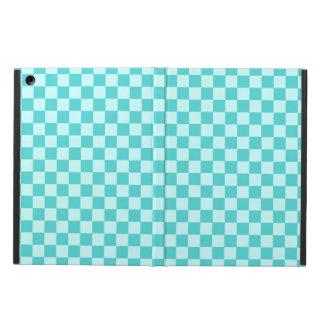 Blaue Kombinations-klassisches Schachbrett durch