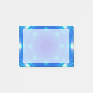 Blaue Kristallstern-Mandala Post-it Klebezettel