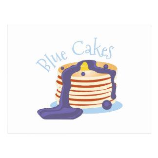 Blaue Kuchen Postkarte