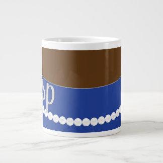 Blaue Kupplungs-Perlen und Jumbo-Tasse