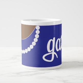 Blaue Kupplungs-Perlen und Jumbo-Tassen