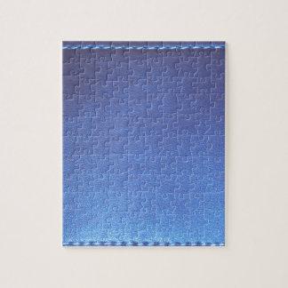Blaue lederne Endeschablone DIY addieren TEXT-BILD Puzzle