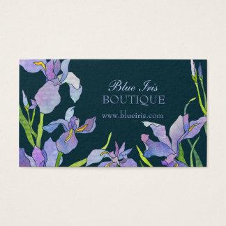 Blaue lila Iris-Termin-Karten Visitenkarte