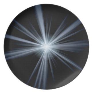 Blaue Linse-Aufflackern-Explosion Teller