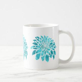 Blaue Mama auf Weiß Kaffeetasse